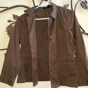 Talbots Softly Brown Fall *STRETCH Cotton* Jacket